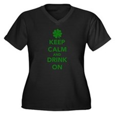 Keep calm and drink on St. Patricks day Women's Pl