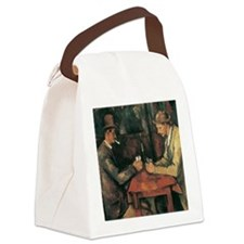 Cezanne The Card Players Canvas Lunch Bag