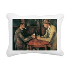 Cezanne The Card Players Rectangular Canvas Pillow