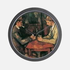 Cezanne The Card Players Wall Clock