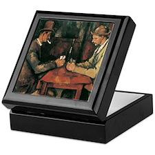 Cezanne The Card Players Keepsake Box