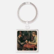 Cezanne The Card Players Square Keychain