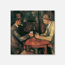 "Cezanne The Card Players Square Sticker 3"" x 3"""
