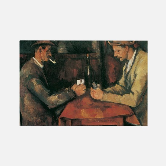 Cezanne The Card Players Rectangle Magnet