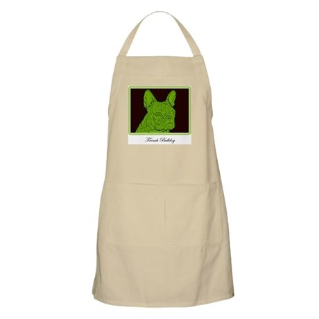 French Bulldog Rec (Green) BBQ Apron