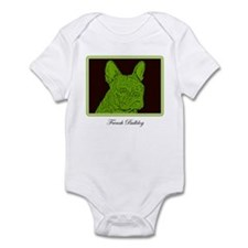 French Bulldog Rec (Green) Infant Bodysuit