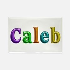 Caleb Shiny Colors Rectangle Magnet