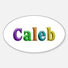 Caleb Shiny Colors Oval Decal