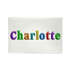 Charlotte Shiny Colors Rectangle Magnet