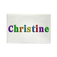 Christine Shiny Colors Rectangle Magnet
