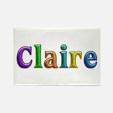 Claire Shiny Colors Rectangle Magnet
