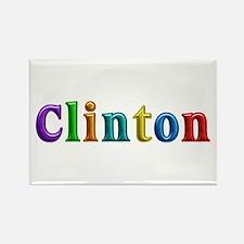Clinton Shiny Colors Rectangle Magnet
