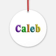Caleb Shiny Colors Round Ornament