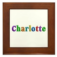 Charlotte Shiny Colors Framed Tile