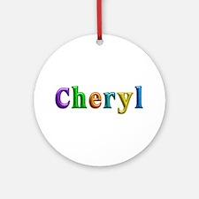 Cheryl Shiny Colors Round Ornament