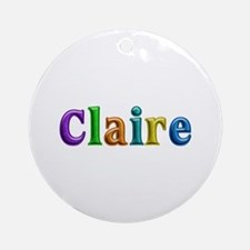 Claire Shiny Colors Round Ornament