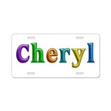 Cheryl Shiny Colors Aluminum License Plate