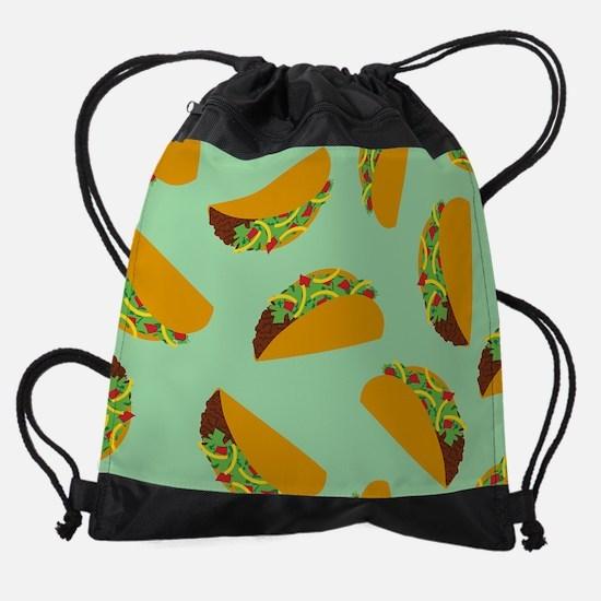 Taco Pattern Drawstring Bag