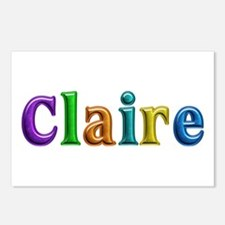 Claire Shiny Colors Postcards 8 Pack