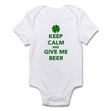 Keep calm and give me beer St. Patricks day Infant