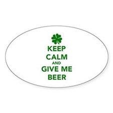 Keep calm and give me beer St. Patricks day Sticke