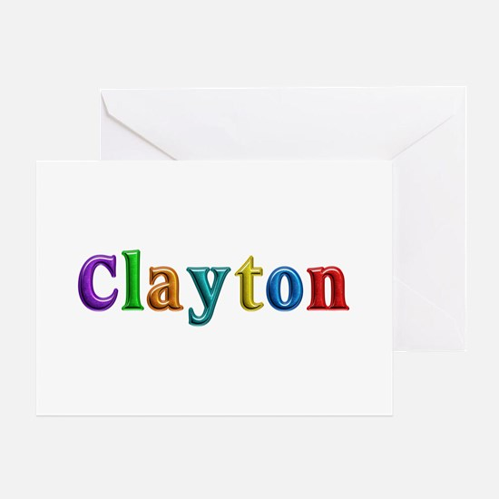 Clayton Shiny Colors Greeting Card