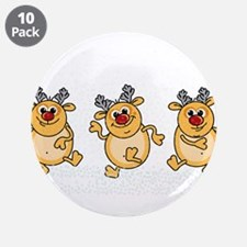 "Dancing Reindeers 3.5"" Button (10 pack)"