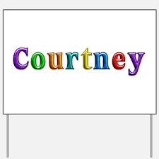 Courtney Shiny Colors Yard Sign