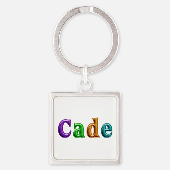 Cade Shiny Colors Square Keychain