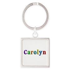 Carolyn Shiny Colors Square Keychain