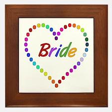 Rainbow Bride Framed Tile