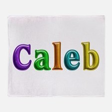 Caleb Shiny Colors Throw Blanket