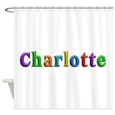Charlotte Shiny Colors Shower Curtain