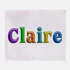Claire Shiny Colors Throw Blanket