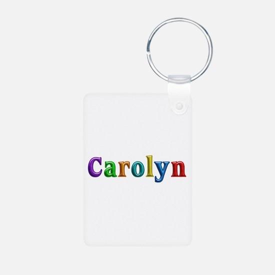 Carolyn Shiny Colors Aluminum Keychain