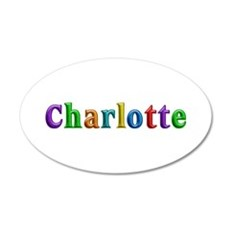 Charlotte Shiny Colors 20x12 Oval Wall Decal