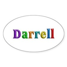 Darrell Shiny Colors Oval Decal