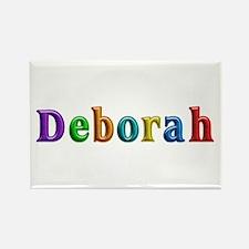 Deborah Shiny Colors Rectangle Magnet