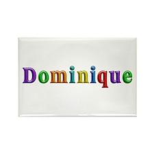 Dominique Shiny Colors Rectangle Magnet