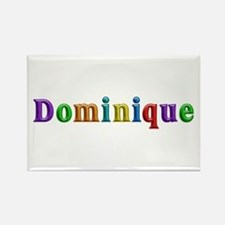 Dominique Shiny Colors Rectangle Magnet