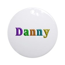Danny Shiny Colors Round Ornament