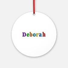 Deborah Shiny Colors Round Ornament