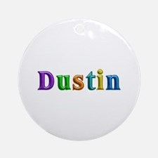 Dustin Shiny Colors Round Ornament