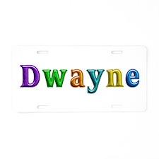 Dwayne Shiny Colors Aluminum License Plate