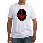 Red & Black Rapier Fitted T-shirt