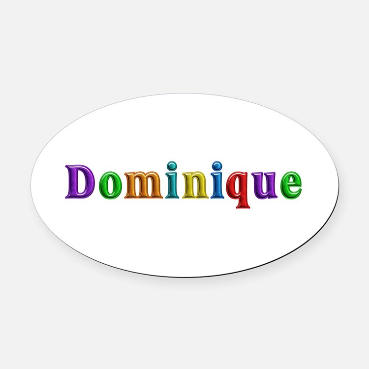 Dominique Shiny Colors Oval Car Magnet