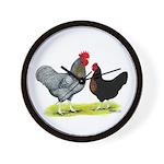 Black Sex-link Chickens Wall Clock
