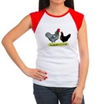 Black Sex-link Chickens Women's Cap Sleeve T-Shirt