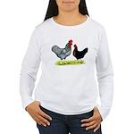 Black Sex-link Chickens Women's Long Sleeve T-Shir