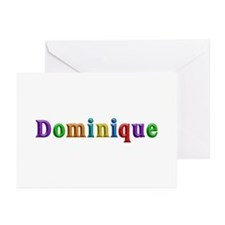 Dominique Shiny Colors Greeting Card 10 Pack